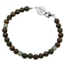 Mans Bronzite Memorial Bracelet with Engraving